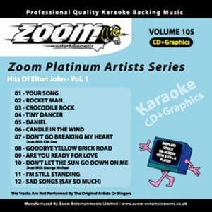Karaoke Korner - Zoom Platinum Artists - Volume 105