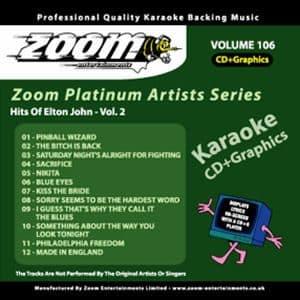 Karaoke Korner - Zoom Platinum Artists - Volume 106