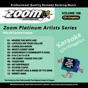 Karaoke Korner - Zoom Platinum Artists - Volume 108