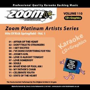 Karaoke Korner - Zoom Platinum Artists - Volume 110