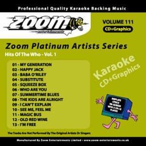 Karaoke Korner - Zoom Platinum Artists - Volume 111