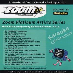Karaoke Korner - Zoom Platinum Artists - Volume 113