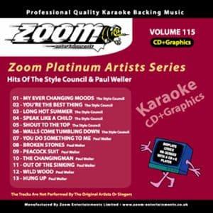 Karaoke Korner - Zoom Platinum Artists - Volume 115