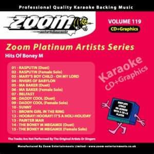 Karaoke Korner - Zoom Platinum Artists - Volume 119