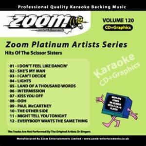 Karaoke Korner - Zoom Platinum Artists - Volume 120