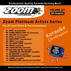 Karaoke Korner - Zoom Platinum Artists - Volume 121