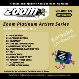 Karaoke Korner - Zoom Platinum Artists - Volume 122