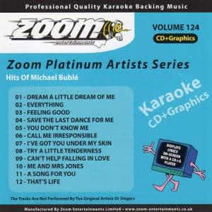 Karaoke Korner - Zoom Platinum Artists - Volume 124