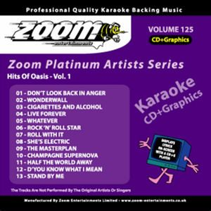 Karaoke Korner - Zoom Platinum Artists - Volume 125