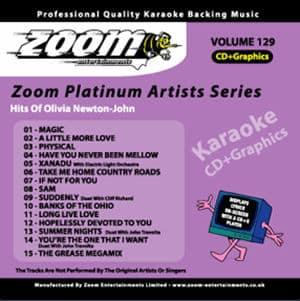 Karaoke Korner - Zoom Platinum Artists - Volume 129