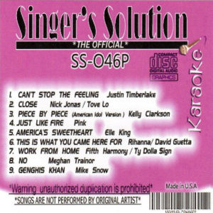 ss046 - Singer's Solution Pop #46