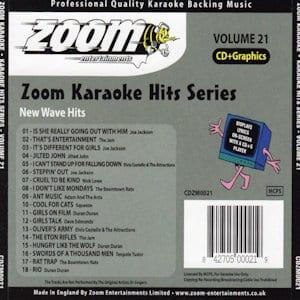 zkh21 - ZOOM KARAOKE NEW WAVE HITS VOL 21