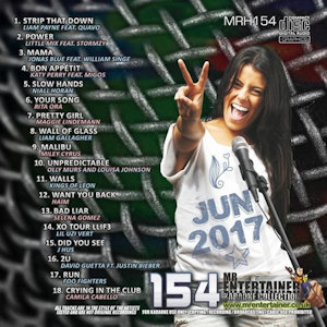 mrh154 - Mr Entertainer Karaoke Hits Vol 154 - June 2017