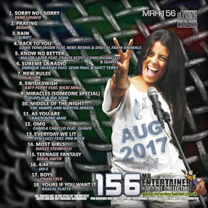 mrh156 - Mr Entertainer Hits Vol 156 - August 2017