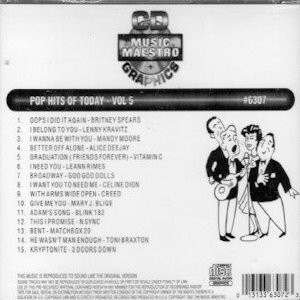 MM6307 - Pop Hits Of Today  Vol 5