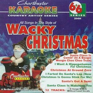 cb20484 - Chartbster Karaoke 6X6 Wacky Christmas