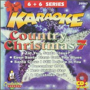 cb20567EG - Chartbuster Karaoke 6X6 Coutry Christmas Vol 7