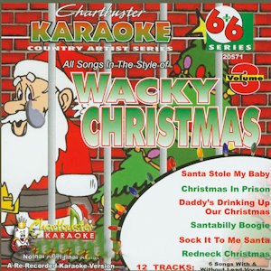 cb20571EG - Chartbuster Karaoke 6X6 Wacky Christmas Vol 3