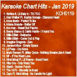 kch0119 - Karaoke Chart Hits January 2019