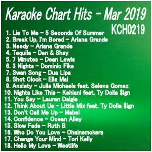 Karaoke Chart Hits March 2019