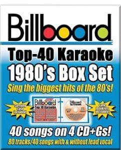 syb4432 - Billboard 1980's Top 40 Karaoke Box Set