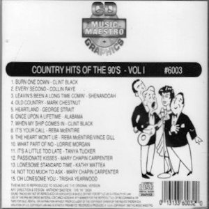 mm6003 - Country Hits Of The 90's v1