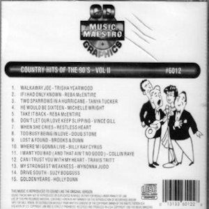 mm6012 - Country Hits Of The 90's vol II
