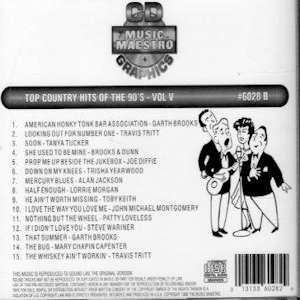 mm6028b- Top Country Hits Of The 90's Vol. V