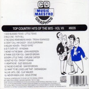 mm6035- Top Country Hits Of The 90's vol VII