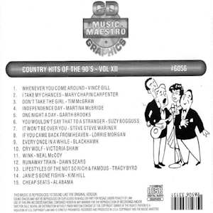 mm6056 - Country Hits Of The 90's Vol XII