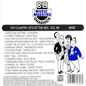 mm6062 - Top Country Hits Of The 90's vol XIII
