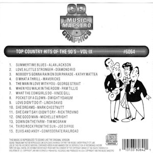 mm6064 - Top Country Hits Of The 90's Vol IX