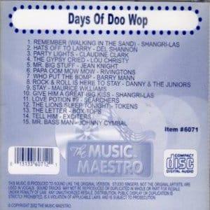 mm6071 - Days Of Doo Wop
