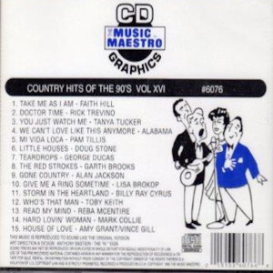 mm6076 - Country Hits Of The 90's Vol XVI