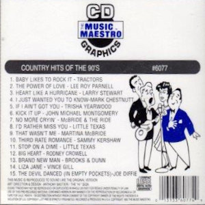mm6077 - Country Hits Of The 90's
