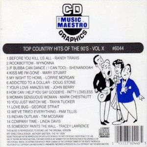 mm6044 - Top Country Hits Of The 90's vol X