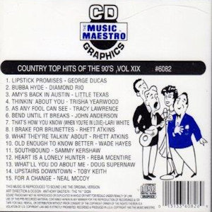 mm6082 - Country Top Hits Of The 90's vol XIX