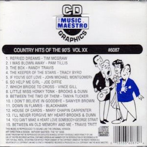 mm6087 - Country Hits Of The 90's vxx