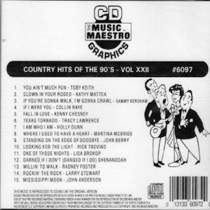 mm6097- Country Hits Of The 90's vol XXII