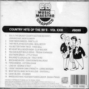 mm6099 - Country Hits Of The 90's vol XXIII